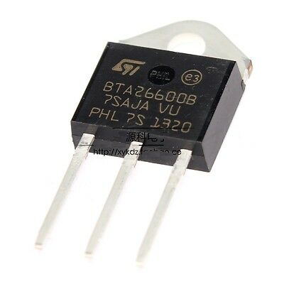 2Pcs Bta26-600B Bta26-600B Triac Bta26600B Stm Top-3L Ic