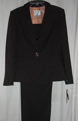 Collections for Le Suit Ladies Two (2) Piece Pant Suit Chocolate Eight (8) NWT