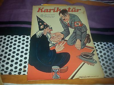 Wwii Hitler Cover Humor Turkish Magazine ! Fun Wizard ! 1944 Complete Mag - 5