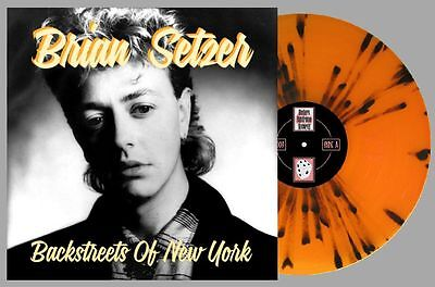 "BRIAN SETZER Back Streets Of New York colour vinyl 12"" EP Stray Cats rockabilly"