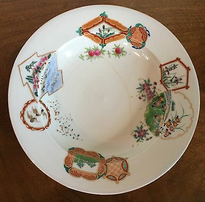 Large Antique Chinese Export Porcelain Soup Plate Bowl 19th c. 4 of 6 Marked