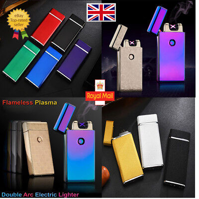 2016 USB Rechargeable Electric LIGHTER Double ARC PULSE Flameless Plasma TorchUK