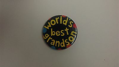 World's Best Grandson Badge