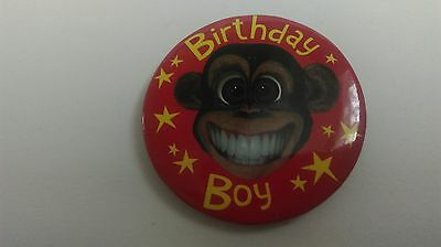 Birthday Boy Badge Red