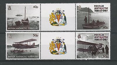 (W0462) Br. Antarctic Territory, Transportation,  Gutterpairs, Um/mnh, See Scan