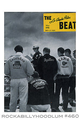 New Hot Rod Poster 11x17 Car Club jackets Los Angeles Police Beat Magazine art