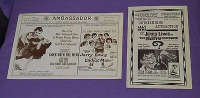 original movie theater handbill programs Jerry Lewis THE NUTTY PROFESSOR
