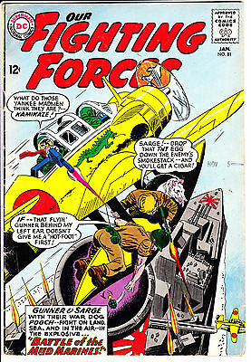 DC Comics OUR FIGHTING FORCES 1964 #81 GD/VG