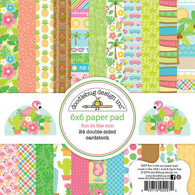 Doodlebug Design Fun in the Sun Collection 6 x 6 Scrapbook Paper Pad 5297