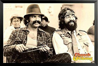 FRAMED Cheech & Chong Chill 36x24 Weed Culture Comedy Art Print Poster