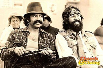 Cheech & Chong Chill 36x24 Weed Culture Comedy Art Print Poster