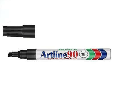 Artline 90 12 X Permanent Marker 5Mm Chisel Nib Black