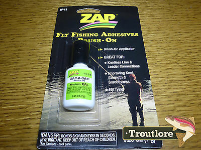"Zap-A-Gap Zap ""brush On' Fly Fishing Adhesive Glue - New Fly Tying Essential"