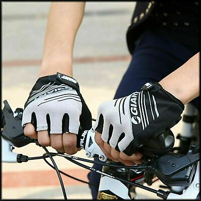 2017 Genuine Giant Cycling Bicycle Half Finger Bike Gloves Antiskid  Gel Padded