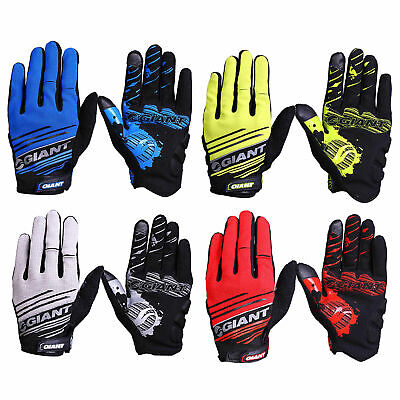 2017 Giant Cycling Bicycle Full Finger Road Bike MTB Sport Antiskid Gel Gloves G