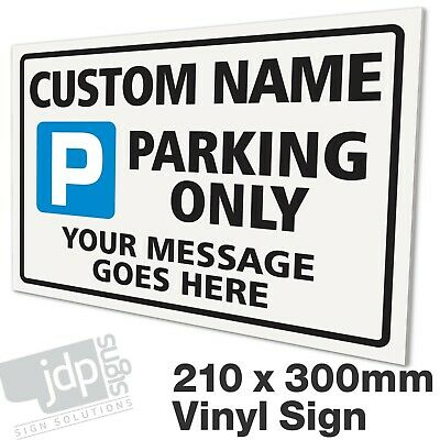 Custom Made Parking Sign – Personalised For You Requirements