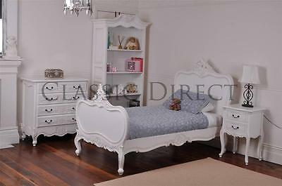 Bed King-Single French Provincial Antique White Reproduction SRP $1500