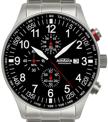 N57S, 44mm,Astroavia,Aviation Military,Army Pilot, Chronograph,