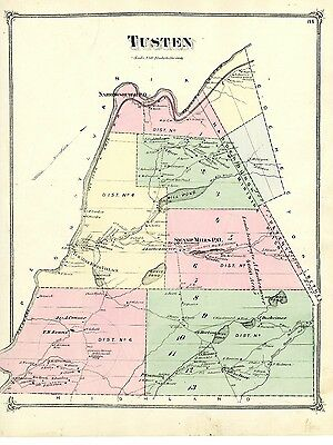 1875 Tusten map, from Atlas of Sullivan County New York, with family names