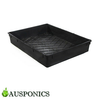 1x BLACK PLASTIC TRAY 500 x 380 x 82MM Top Quality For Seeding and Propagation