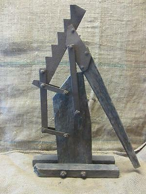 Vintage 1800s Iron & Wood Wagon Jack > Antique Horse Western Gear RARE 9585