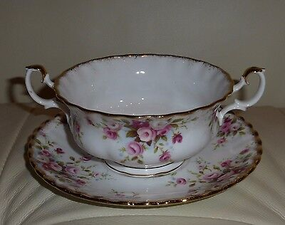 Royal Albert Cottage Garden Footed Cream Soup Bowl