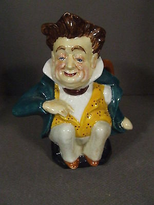 Vtg Burleigh Ironstone Et Baily Mr. Pecksniff Toby Jug Pitcher Made In England