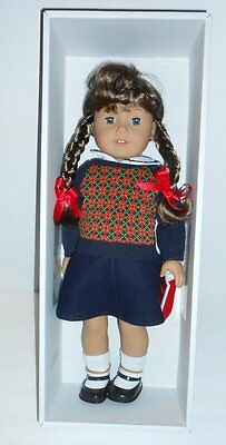 "American Girl Molly With Paperback Book 18"" Retired NIB NEW"