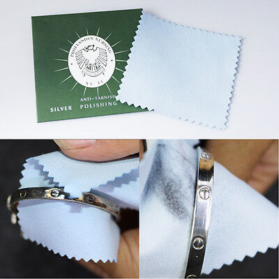 10/50 Anti-Tarnish Silver Polishing Cleaning Cloth Cleaner Platinum Jewelry New