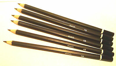 1x OR Set 12 Drawing Sketching Pencils H F 2B 3B 4B 5B 6B 7B 8B 9B Art Supplies