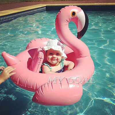 Baby Kids Infant Flamingo Inflatable Float Seat Water Toy Pool Swimming Ring