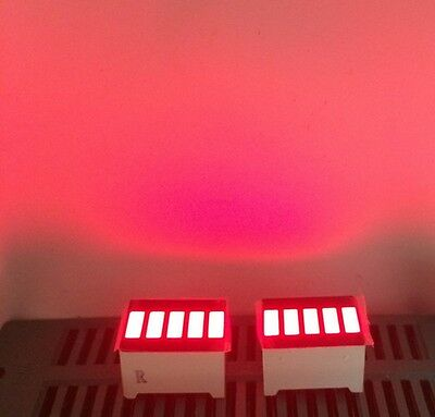 10pcs LED Red Bargraph 5 Segment LED Display 5 LED Bar Display