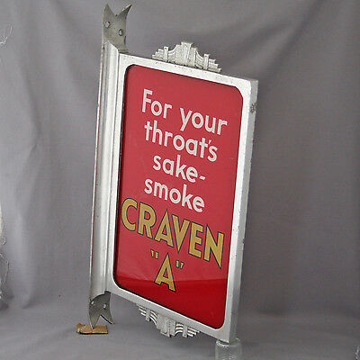Vintage Craven A Glass Advertising Sign