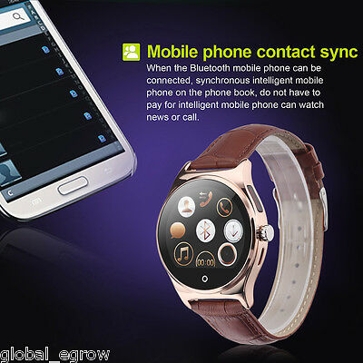 Bluetooth Smart Watch Fitness Heart Rate Monitor Tracker For Android IOS iPhone
