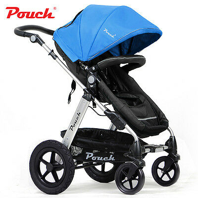 2 In 1 Baby Toddler Prams Pushchair Stroller Jogger Aluminium With Bassinet