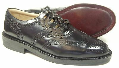 Mens New Leather Sole Black Ghillie Brogue Shoe and Tassled Laces Size: UK 10.5