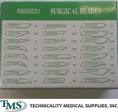 100 #15 Carbon Surgical Dental Veterinary Taxidermy Blades w/ 2 #3 Blade Handles