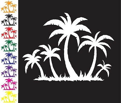 Palm Trees Beach Ocean Island Tropical Auto Car Bumper Window Wall Decal Sticker