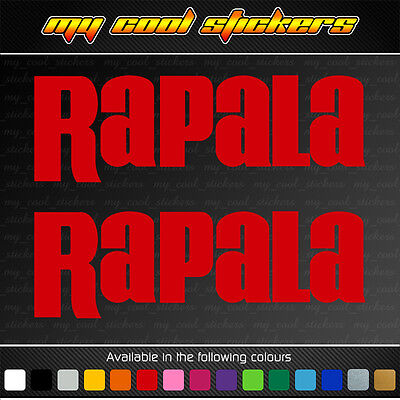 2 x Rapala Vinyl Sticker Decal suits 4X4, ute, car, truck, boat fishing tackle