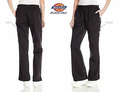 Dickies Chef Cargo Pocket WOMEN Pant Elastic Waist Chef Work XS-5XL DC219