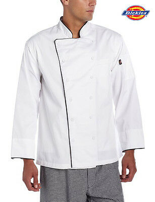 Dickies Chef Executive Long Sleeve Chef Coat/Jacket Cloth Covered Buttons DC103