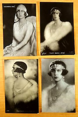 4 Photo Postcards S.A.R. Princess Marie Jose of Belgium last Queen Italy Royalty