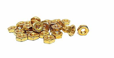 Mini Hexagon Gold Plated Nuts / Beads