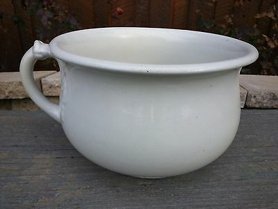 Antique Ironstone White CHAMBER POT  By IMPERIAL China