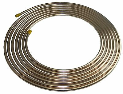 Copper Nickel Brake Fuel Line Tubing Kit 3/8 OD 25 Ft Coil Roll  INLINE TUBE CN6