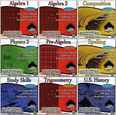 Grades 9 - 12 HIGH ACHIEVER School Learning Software Home Study PC Windows NEW