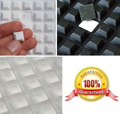 10 x 10 x 4mm Thick ~ Square 3M RUBBER FEET Bumpons Stoppers ~ Clear White Black