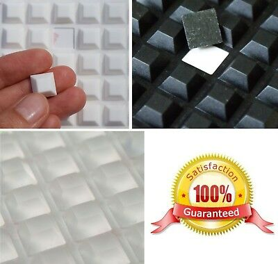 10mm x 10mm x 4mm Thick, 3M RUBBER FEET, STRONG Adhesive Squares, CLEAR or BLACK