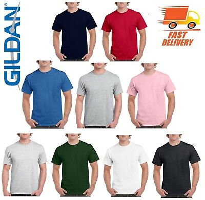 GILDAN Mens Plain T-Shirts Heavy Cotton G500 Short Sleeve T Shirt Multi Pack Lot