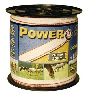 Corral Classic Fencing Tape 200M X 10Mm Equine Horse Fencing